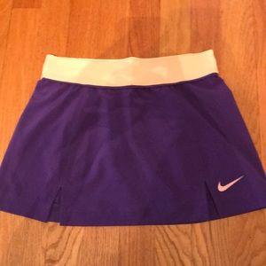 Purple/Orange Tennis Skirt